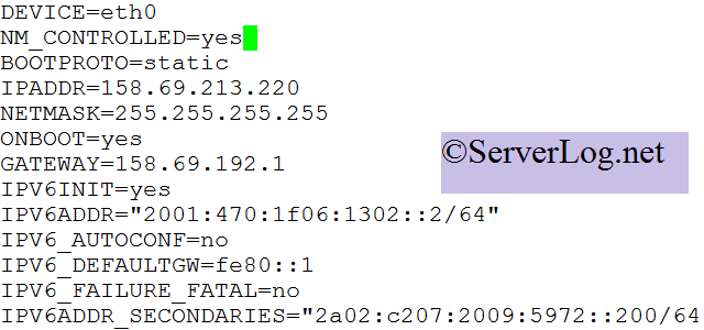 ifcfg-eth0 file sample