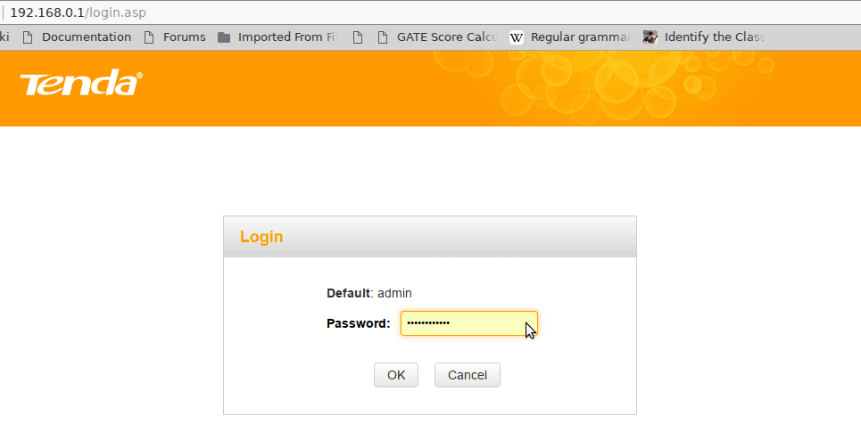 login to admin interface