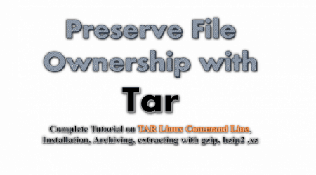 tar-preserve file ownership