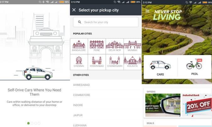 Zoomcar app setup